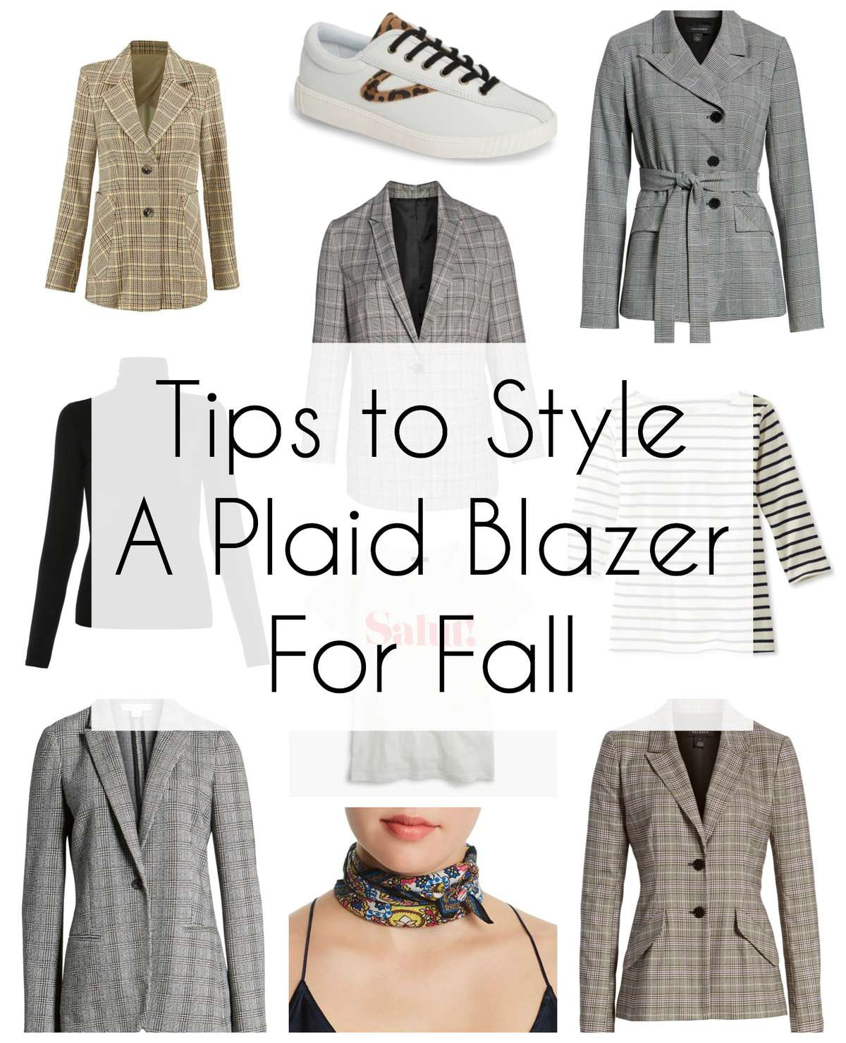 tips on how to style a plaid blazer for fall for weekend and work