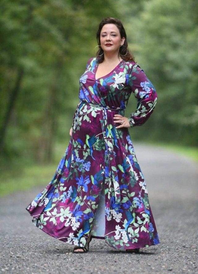 wardrobe oxygen in eloquii maxi dress