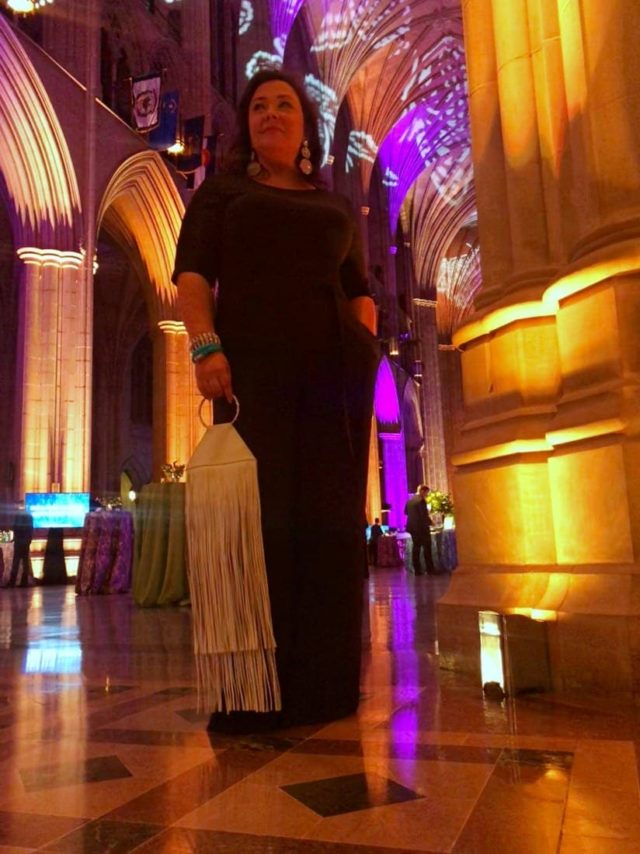 What I wore to the Fair Chance Butterfly Bash in Washington DC at the Washington National Cathedral. Tips on what to wear to a cocktail gala when you're over 40