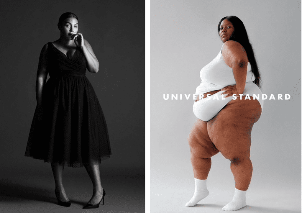 Robin Givhan's piece for the Washington Post about plus size fashion, featuring marketing photos for ELOQUII and Universal Standard