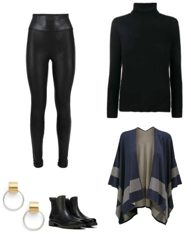 how to style a pair of faux leather front leggings