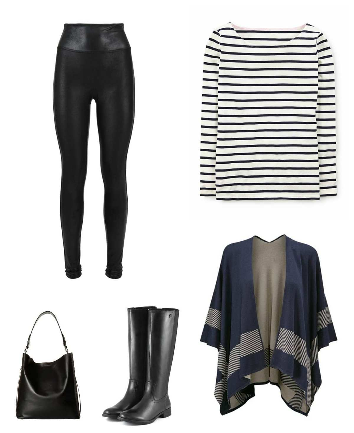 what to wear with leather front leggings