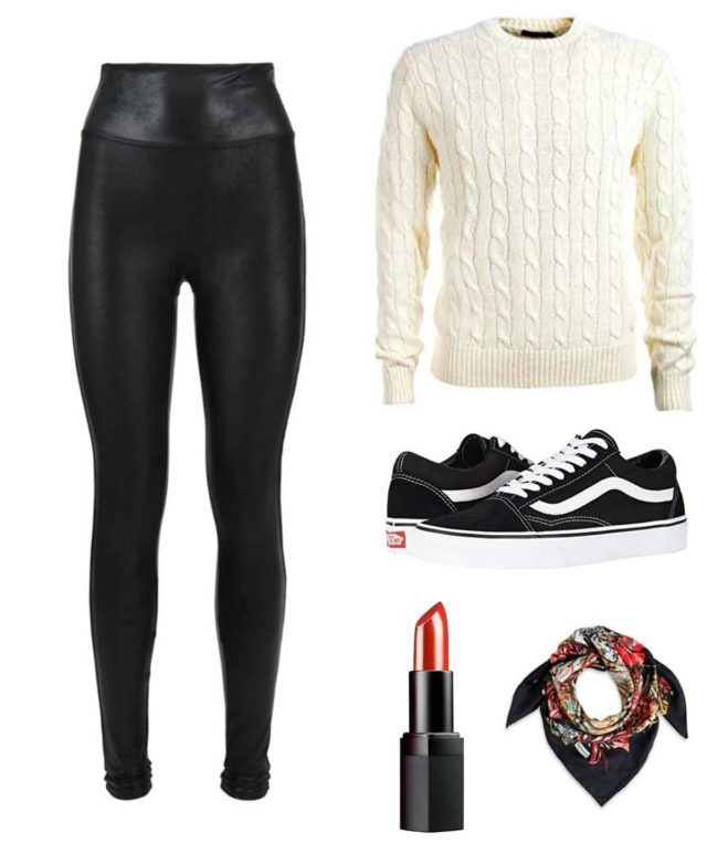 what shoes to wear with leather leggings