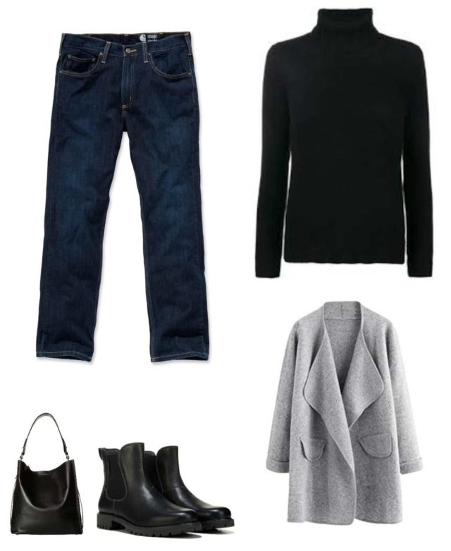 a casual capsule wardrobe for winter