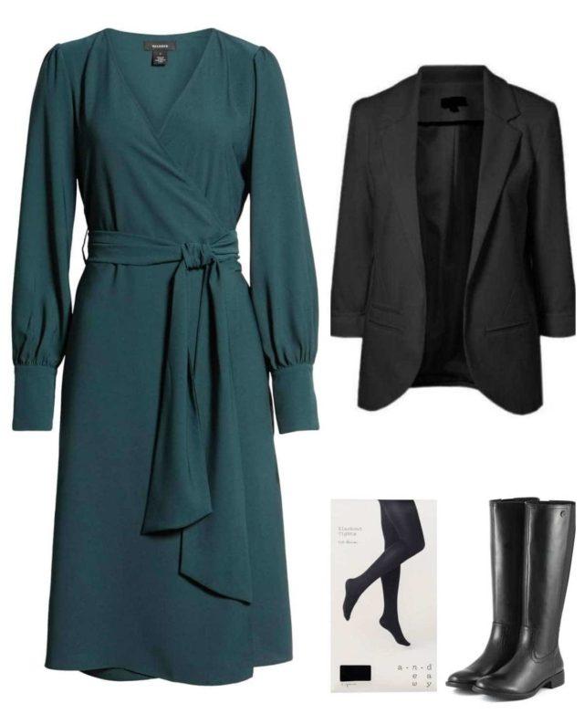 blazer with dress styling tips