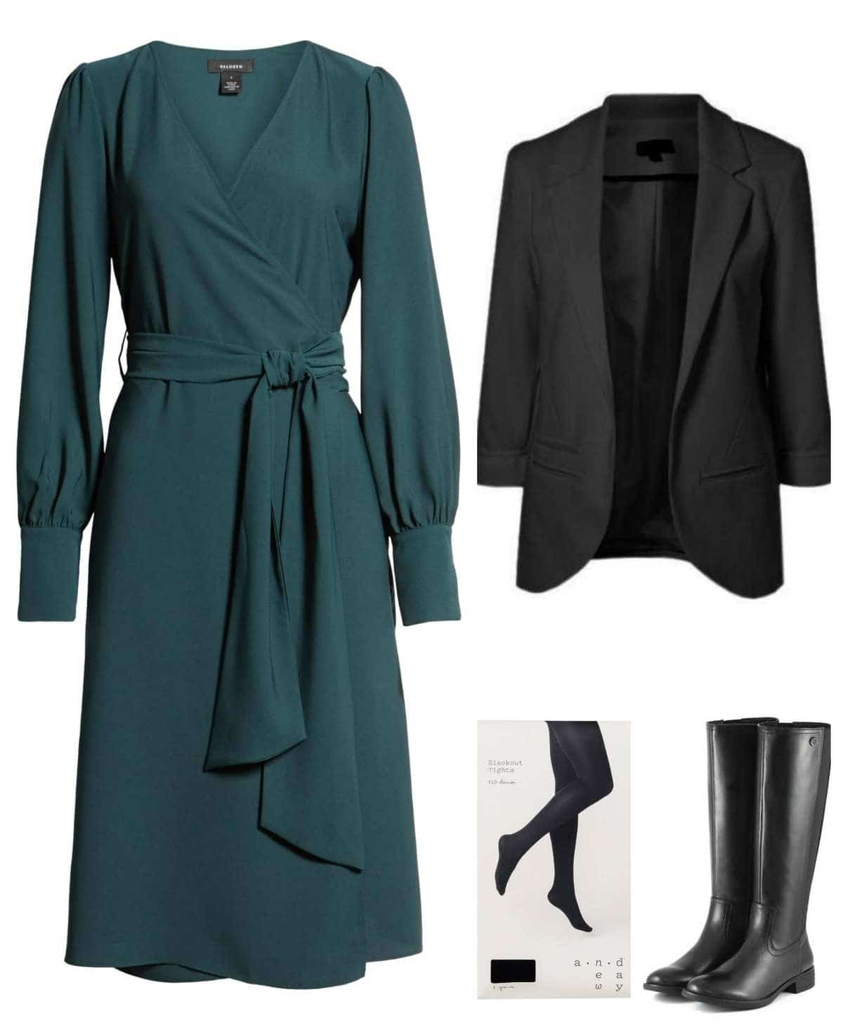 blazer with dress styling tips