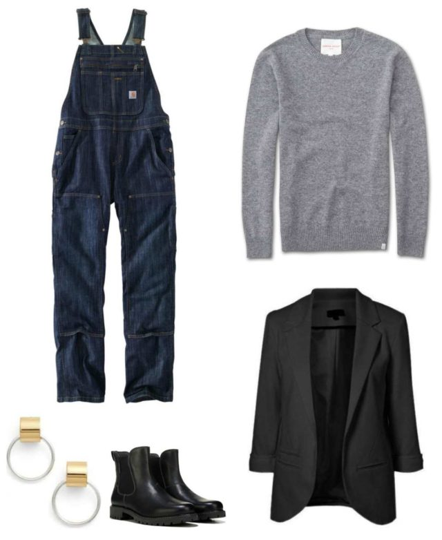 how to style a pair of overalls