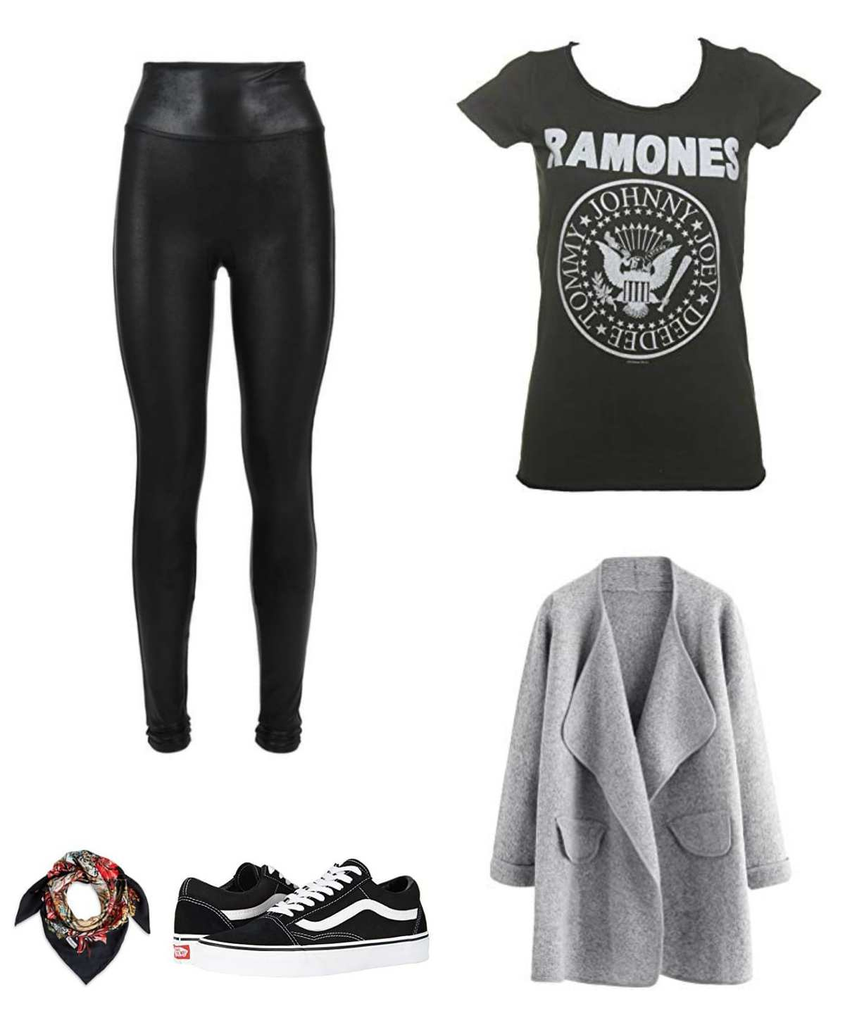 wha to wear with faux leather leggings