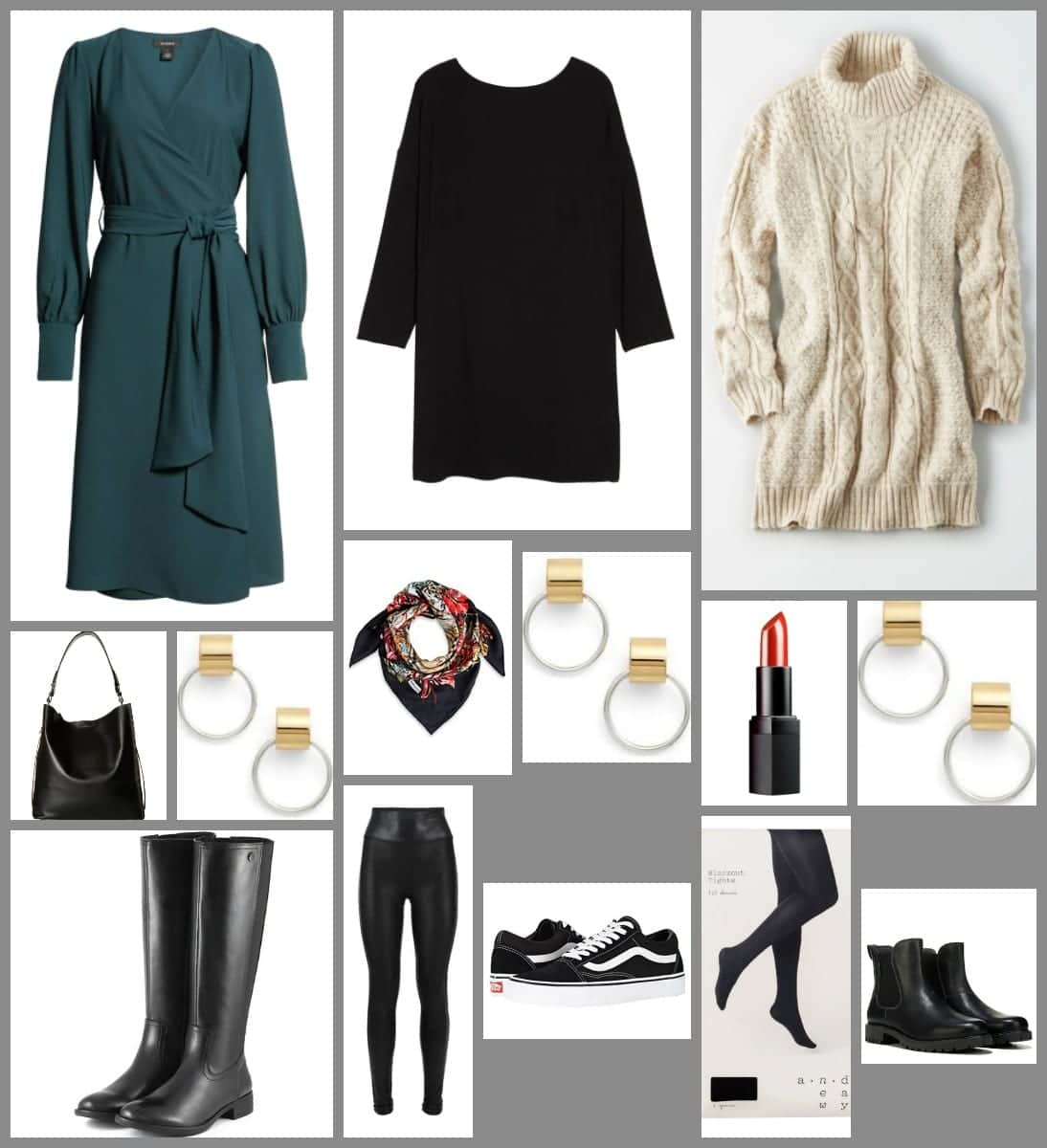 capsule wardrobe how to style dresses