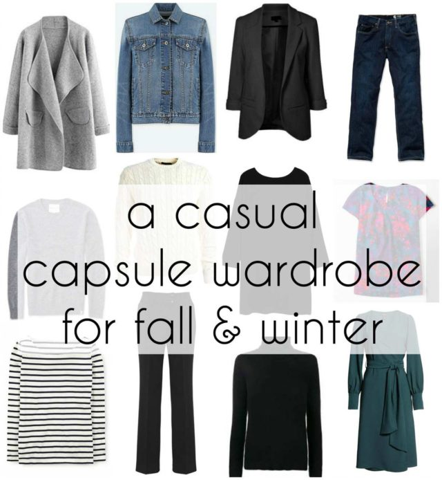 how to build a casual capsule wardrobe for fall and winter