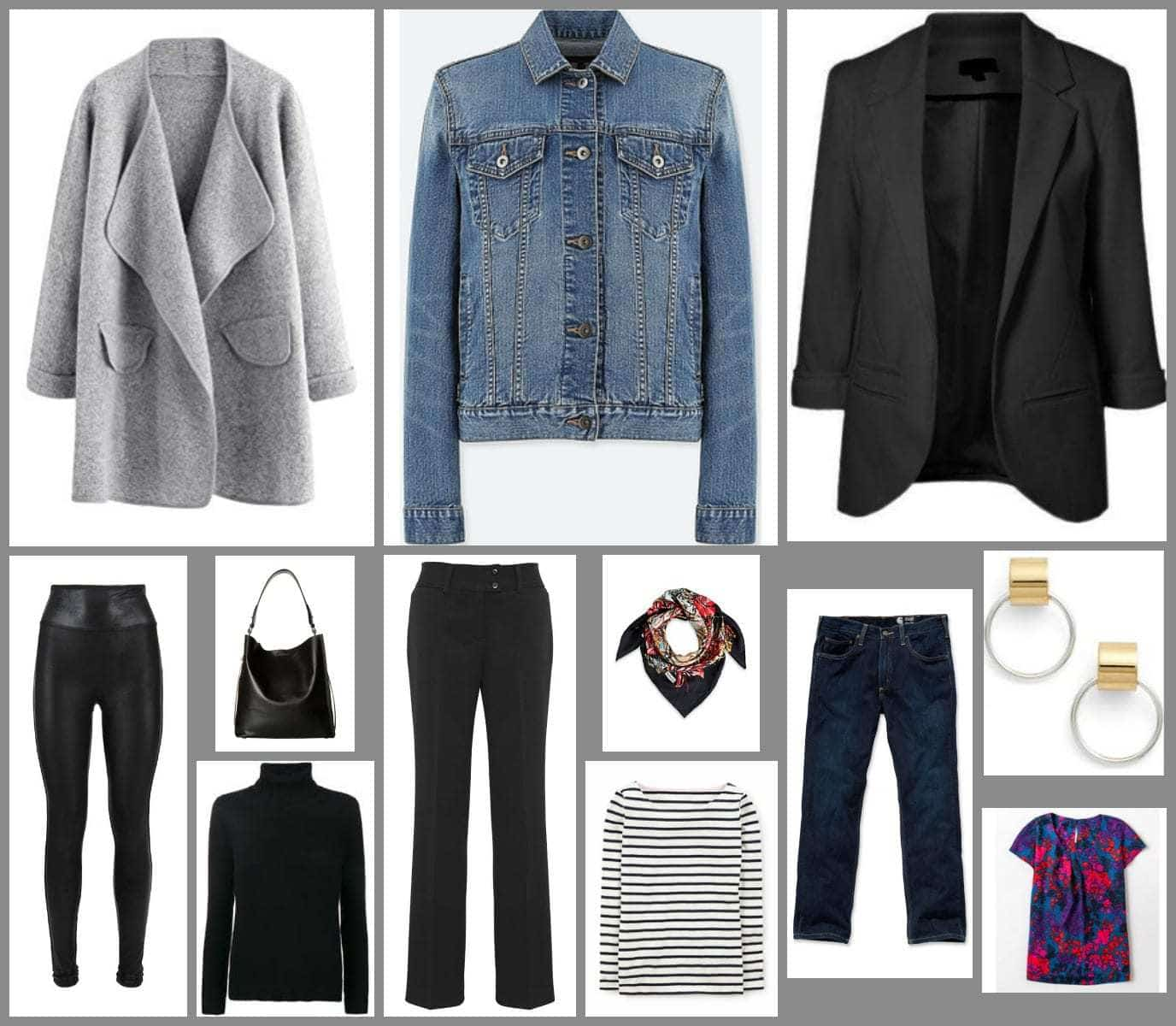 key layering pieces in a capsule wardrobe