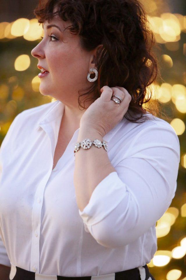 Cristabelle rhinestone circle earrings