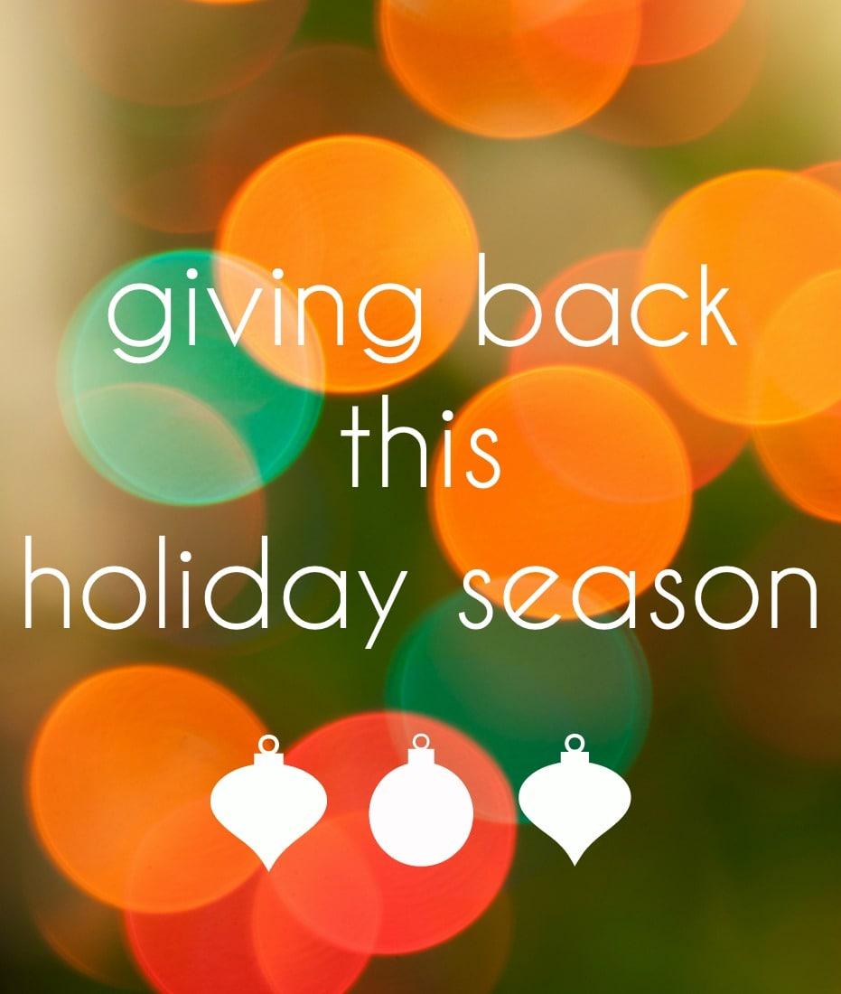 giving back this holiday season