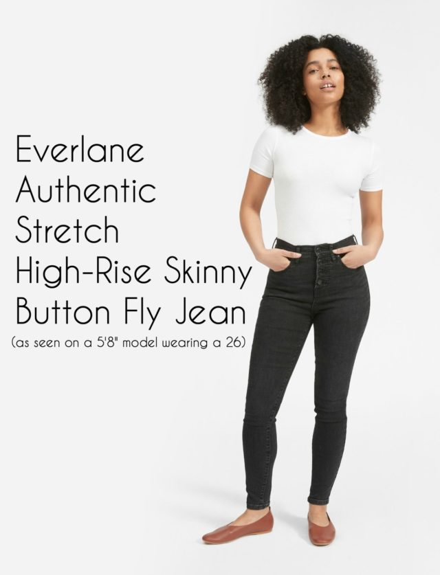 Everlane Authentic Stretch High-Rise Skinny Button Fly Jean Review