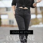Everlane Jeans review by an over 40 petite curvy mom