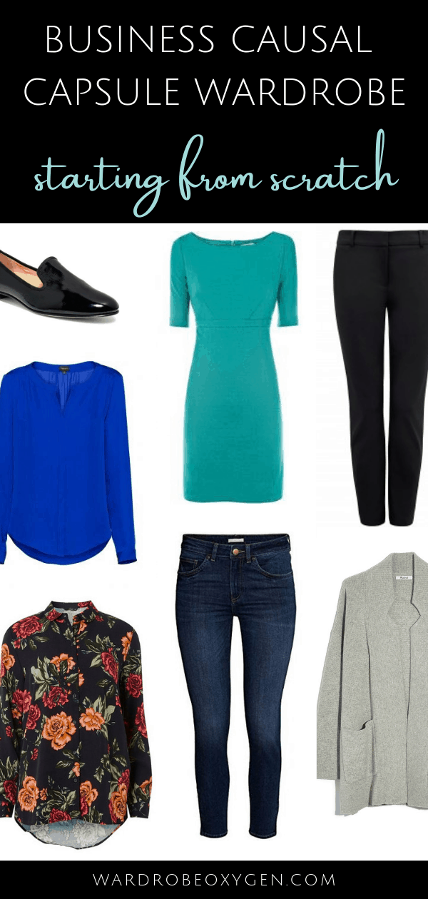 Post Closet Cleanout: How to make a business casual capsule wardrobe from work when you're essentially starting from scratch.