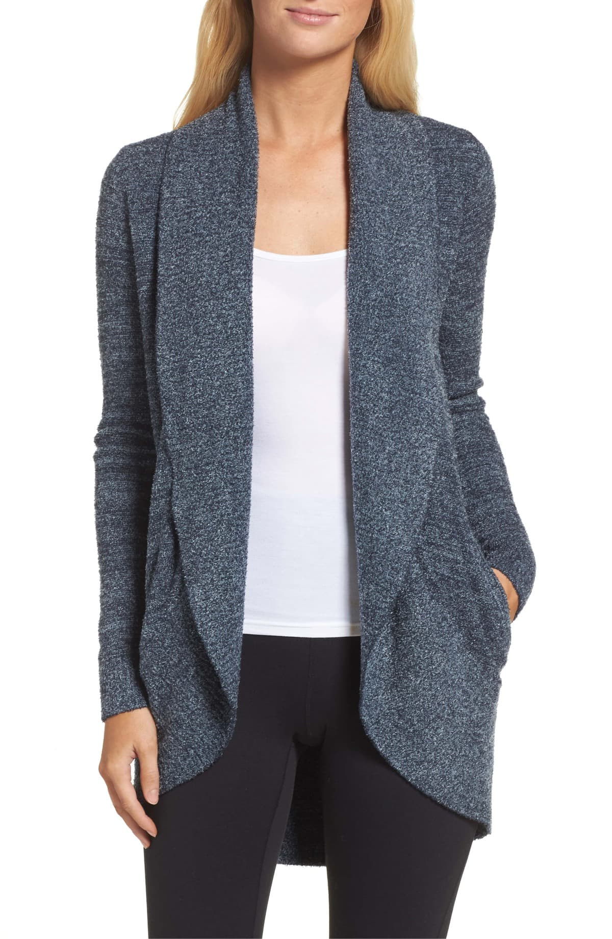 barefoot dreams cozylight circle cardigan review
