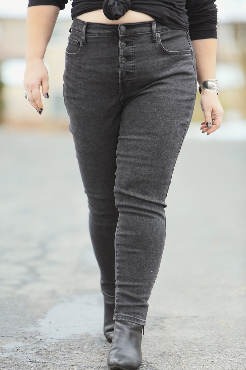 everlane high rise skinny jean review 3
