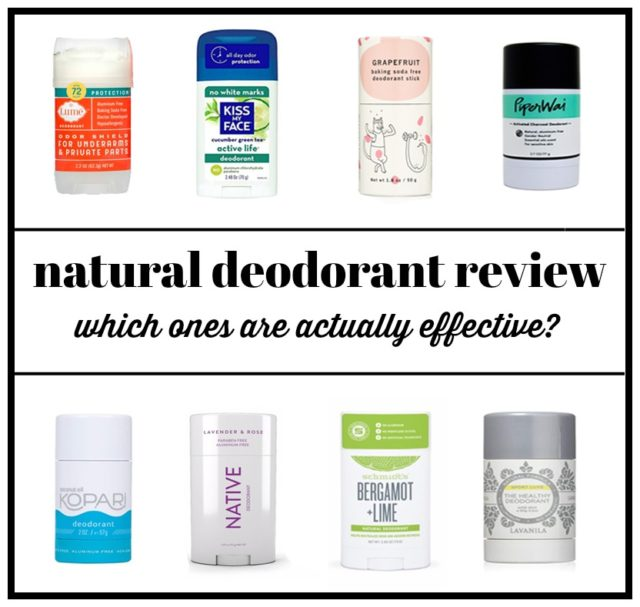the best natural deodorants - a review of several brands and how well they worked over time