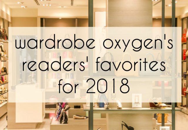 wardrobe oxygen reader favorites 2018