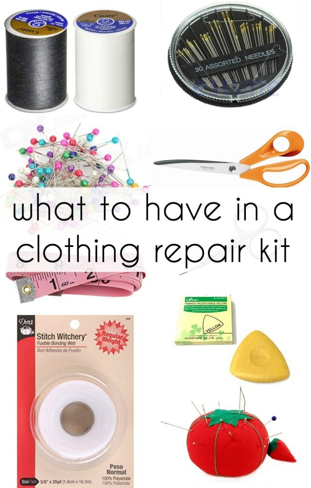 what to put in a clothing repair kit