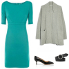 By belting the sweater coat over the dress, you create a completely different look.