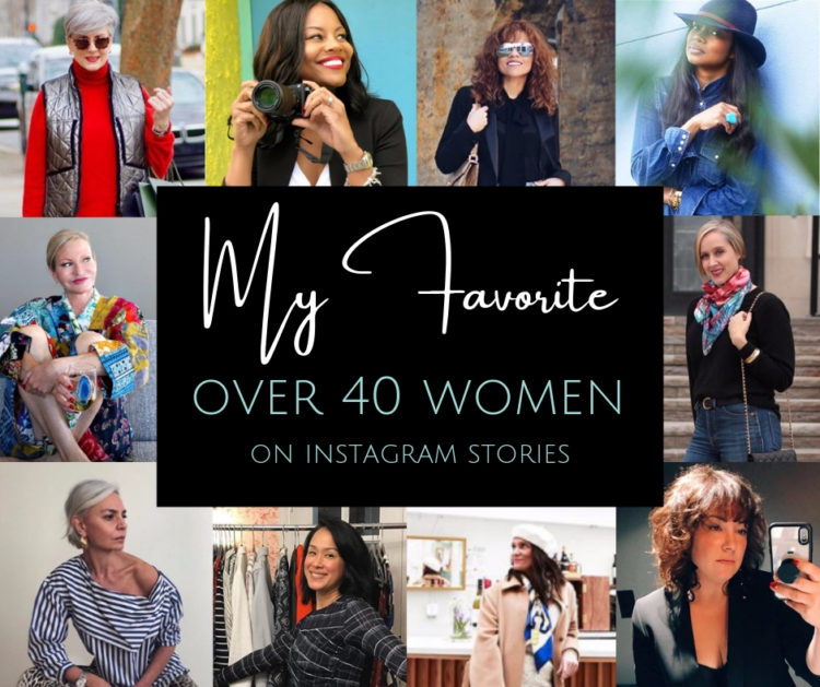 The best over 40 women on Instagram Stories - who to follow #over40 #40plusstyle
