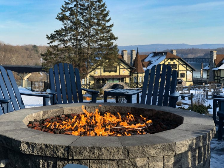 The fire pit at Bavarian Inn West Virginia