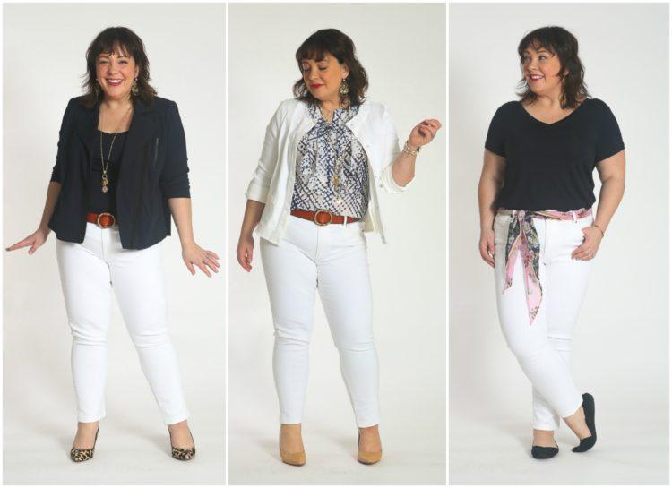 cabi capsule wardrobe white jeans
