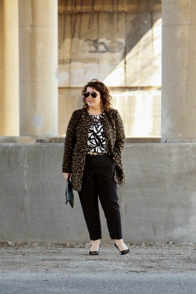 talbots leopard coat