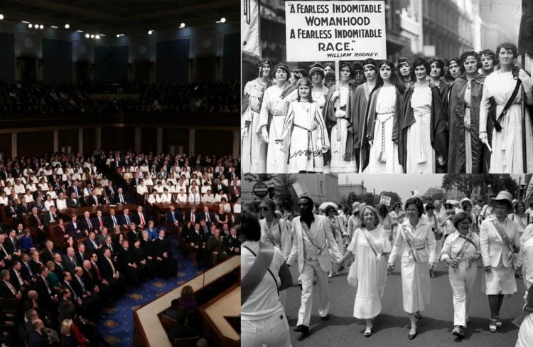 why women have worn white over the years in politics and protest
