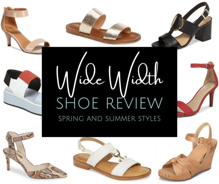 Wide Width Shoes for Spring and Summer, a review by Wardrobe Oxygen featuring brands like Naturalizer, ASOS, J. Renee, David Tate, Munro, and More
