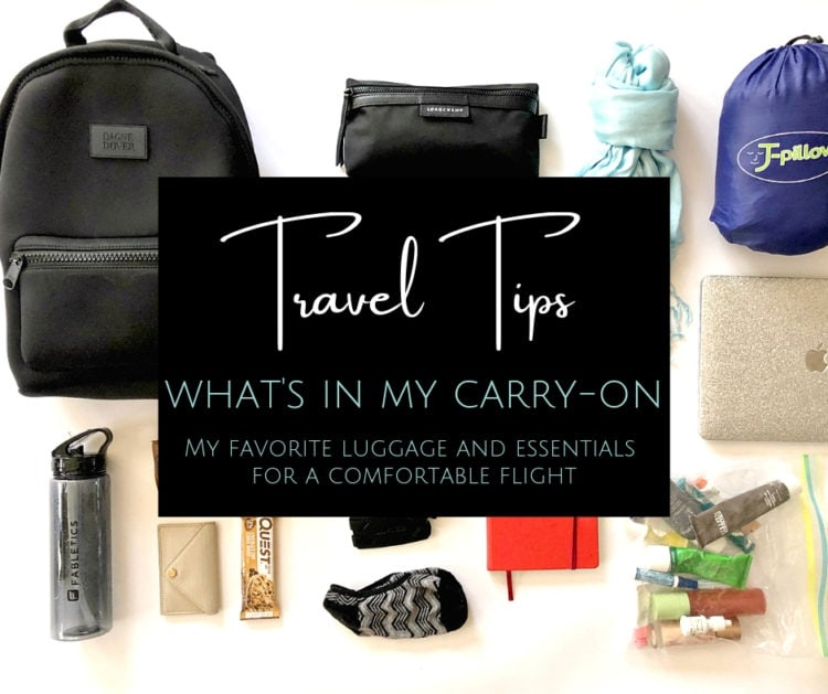 What I carry on flights - my carry on bag essentials