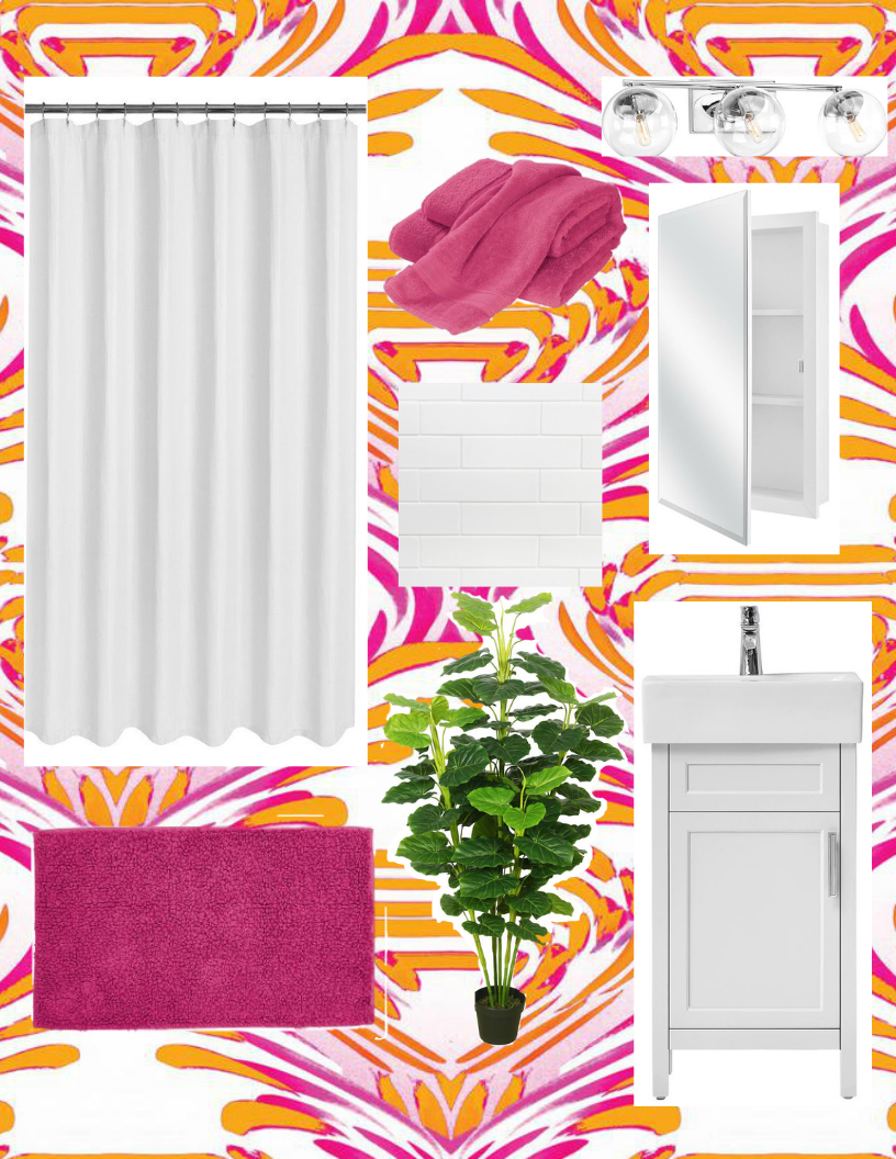 Updating a hallway bathroom with Home Depot. From wallpaper to bath linens from The Company store, Home Depot is now the destination for every aspect of updating your home