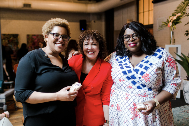 Nikki Nash, Alison Gary of Wardrobe Oxygen, and Vivi of Heart, Print, and Style at Rebelle Con Spring 2019 in Richmond, Virginia