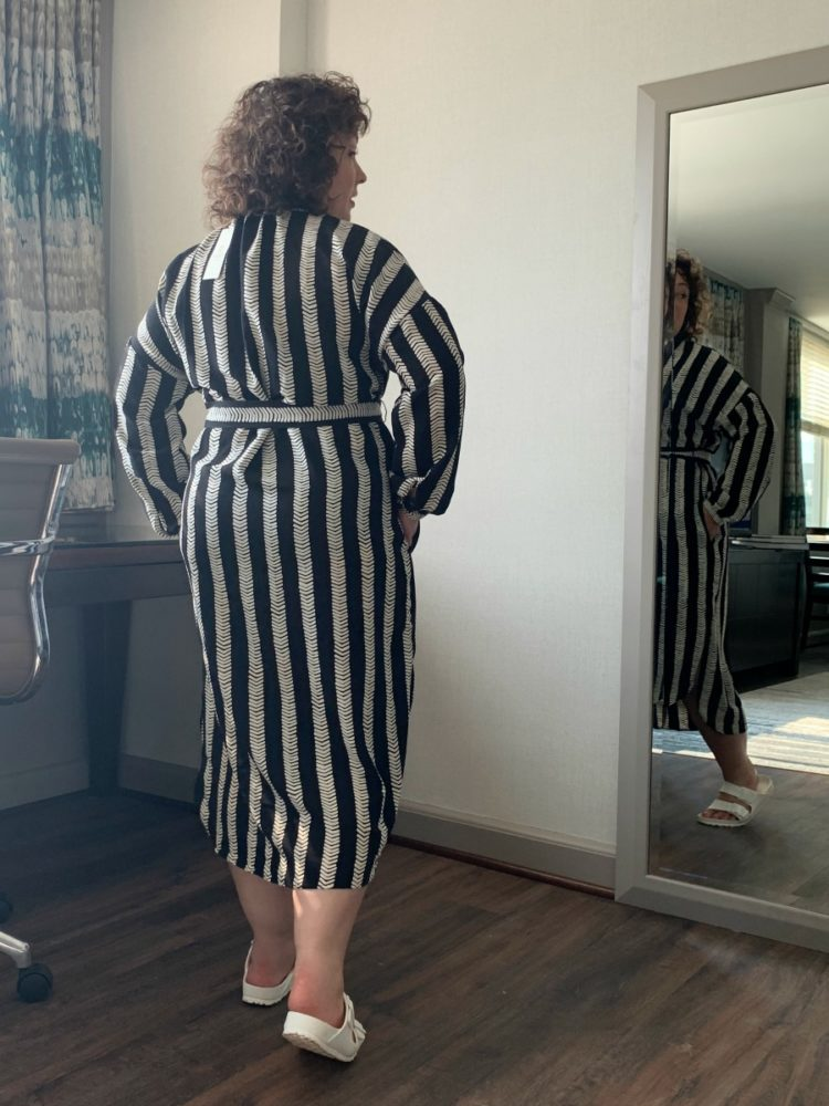 DUBGEE by Whoopi Striped Belted tunic Dress Review