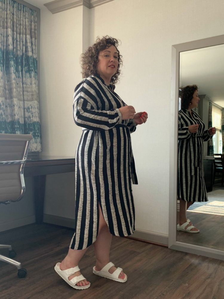 DUBGEE by Whoopi striped tunic dress