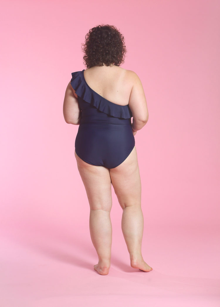 image of Wardrobe Oxygen wearing Hilor One Shoulder One Piece Swimsuit