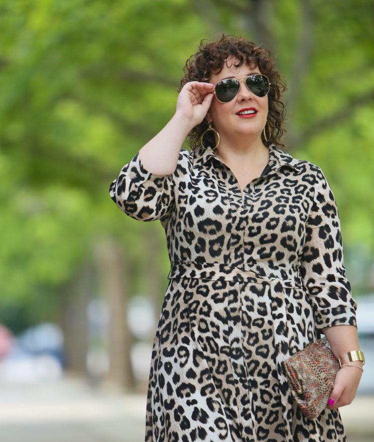 00723da58a Dress: Banana Republic (14 petite) | Shoes: Bella Vita | Sunglasses:  Ray-Ban | Bag: Very old from Hobo; sorta similar | Earrings: Domain Luxe  Portrait Hoop ...
