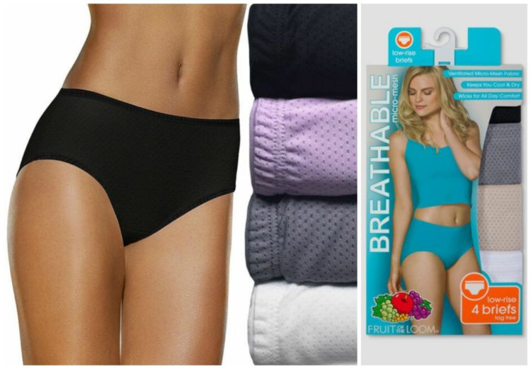 package of fruit of the loom breathable low rise brief underwear
