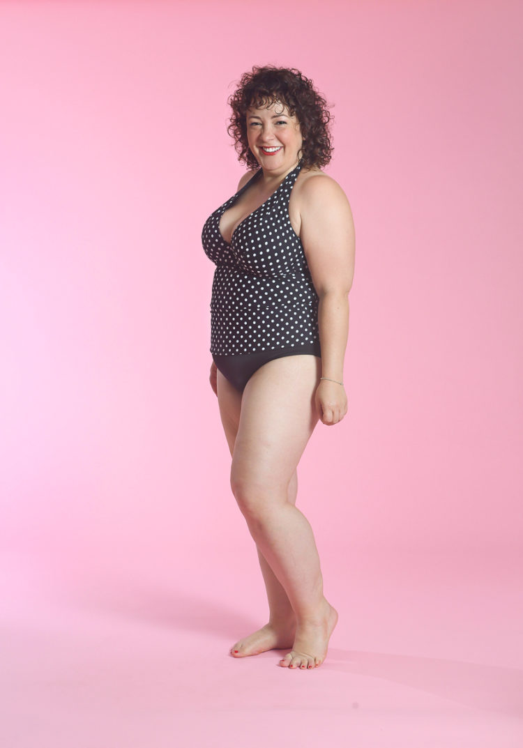 image of Wardrobe Oxygen wearing Sunsets Black Dot Muse Underwire Tankini Top