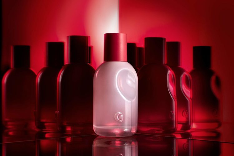 image of Glossier YOU pink perfume bottle