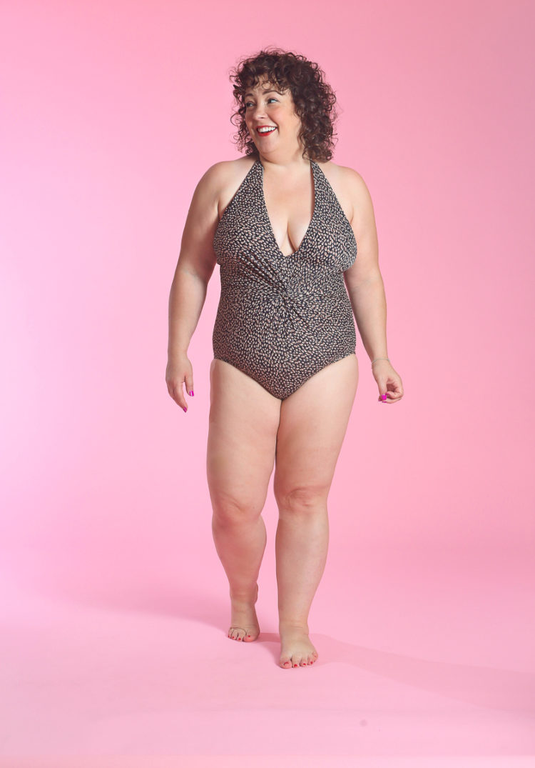 image of Wardrobe Oxygen in Target Dreamsuit Slimming Control Animal Print Control Twist Swimsuit