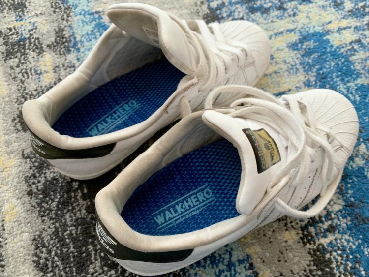 adidas superstar sneakers with walk hero inserts