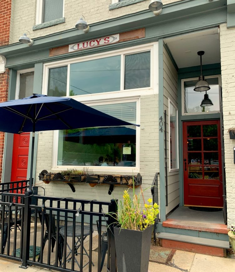 The front of Lucy's a cafe in Richmond, Virginia