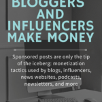 how do influencers and bloggers make money
