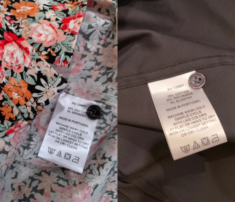fabric labels inside The Shirt