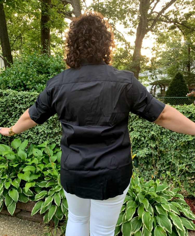 the short sleeve shirt back view