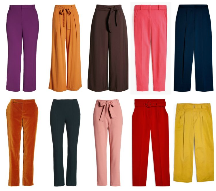 10 colorful pants