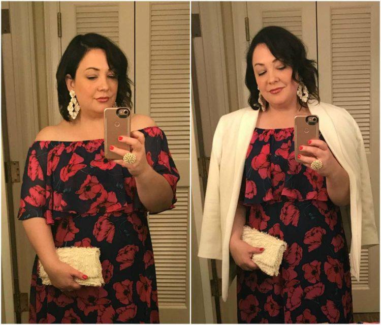 donna morgan off the shoulder maxi dress